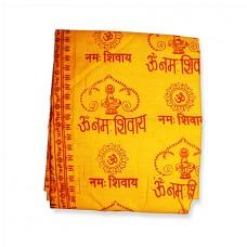 Om Namah Shivay Shawl - Orange