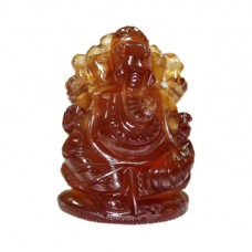 Ganesha In Gomedh / Hessonite - 65 Carat