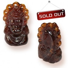 Face Of Hanuman In Gomedh / Hessonite - 72 Carats