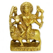 Goddess Durga Statue In Brass