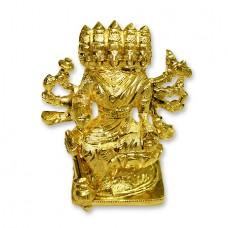 Goddess Gayatri Statue In Panchdhatu