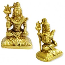 Lord Shiva With Trident In Brass