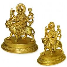 Maa Sherawali In Brass