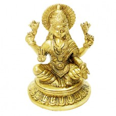 Goddess Mahalakshmi In Brass