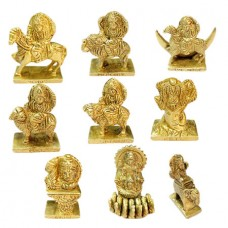 Navgraha Set In Brass - Small