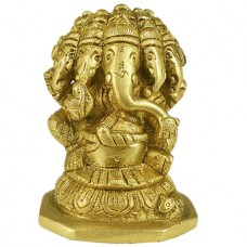 Panchmukhi Ganesh In Brass