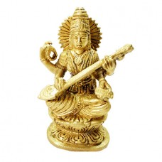Goddess Saraswati In Brass