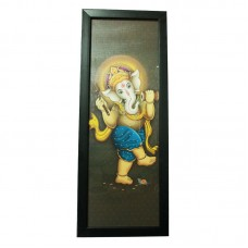 Lord Ganesha Wall Hanging Photo Frame with Matt Finish