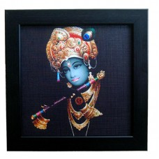 Lord Krishna Photo Frame with Matt Finish