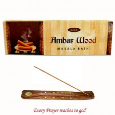 Ambar Wood Bathi with Holder