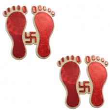 Lucky Charm Laxmi Charan Sticker