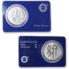 Shri Ganesha Coin In Pure Silver