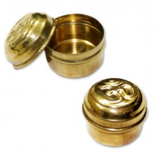 Om Container In Brass