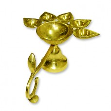 Panch Aarti Lamp In Brass