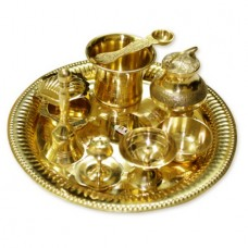 Exclusive Pooja Thali In Brass