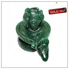 Pashupatinath Shivlinga In Green Jade - 570 Grams
