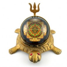 Shree Yantra On Tortoise With Trishul