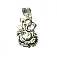 Blessing Ganesha Locket In Silver