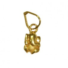 Ganesha Locket In Pure Gold