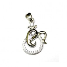 Om Ganesha Locket In Silver