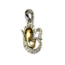 Om Ganesh Locket In Silver