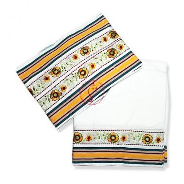 Dhoti (Pancha) With Shawl - Kutchi Work In Pure Cotton