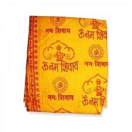 Om Namah Shivay Shawl - Orange