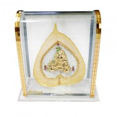 Laddu Gopal In Golden Peepal Leaf With Acrylic Frame