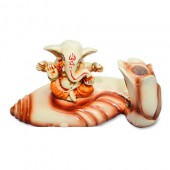Ganesha On Shell ( Pen Stand )
