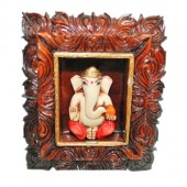 Lord Ganesha In Frame For Desktop
