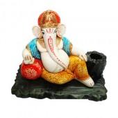 Ganesha On Throne With Gaddi (Pen Stand)