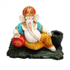 Ganesha On Throne With Gaddi (Pen Stand)