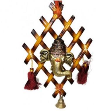 Ganesha On Designer Stick - Wall Hanging