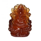Ganesha In Gomedh / Hessonite - 55 Carat
