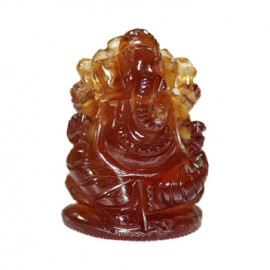 Ganesha In Gomedh / Hessonite - 65 Carat