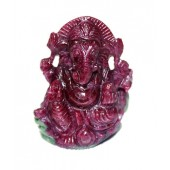 Ganesha In Ruby - 140 Carats