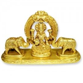 Gajalakshmi Statue in Brass