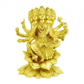 Goddess Gayatri Statue In Brass