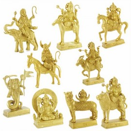 Navgraha Set in Brass - Big