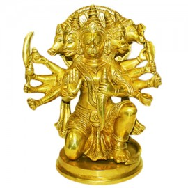 Panchmukhi Hanuman In Brass