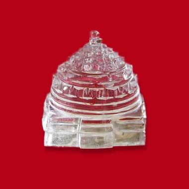 Shree Yantra In Crystal - 100 Gms