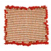 Rudraksha Mat with Red Woolen Border