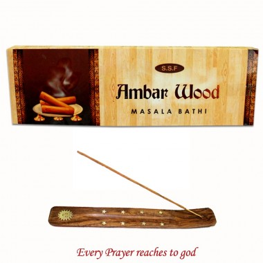 Ambar Wood Bathi with Holder