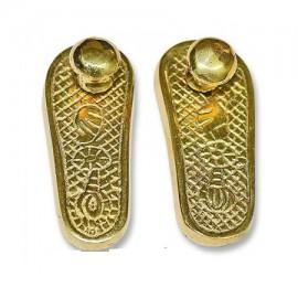 Deity Paduka In Brass - Small