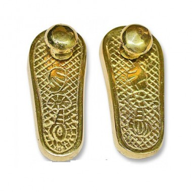Deity Paduka In Brass - Small