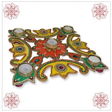 Traditional Beautiful Colors Of Rangoli