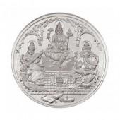Ganesh Laxmi Saraswati Pooja Silver Coin