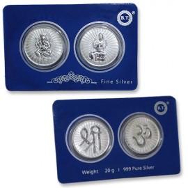 Ganesha Laxmi Pure Silver Coin