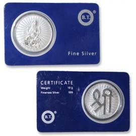 Goddess MahaLakshmi Coin In Pure Silver