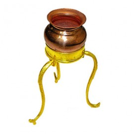 Abhishek Pot With Tripod Stand